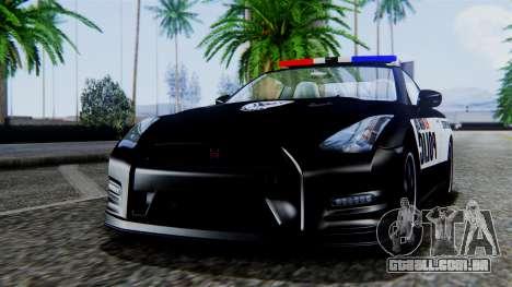 NFS Rivals Nissan GT-R R35 para GTA San Andreas traseira esquerda vista