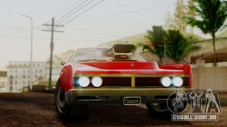 GTA 5 Albany Virgo para GTA San Andreas traseira esquerda vista