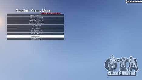 GTA 5 Detailed Money Menu terceiro screenshot