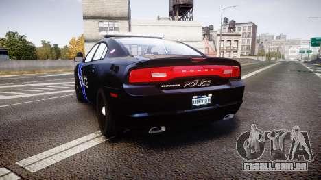 Dodge Charger 2014 LCPD [ELS] para GTA 4 traseira esquerda vista