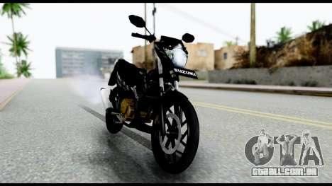 Satria FU Dark Fighter Predator para GTA San Andreas traseira esquerda vista