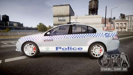 Ford Falcon FG XR6 Turbo Police [ELS] para GTA 4 esquerda vista