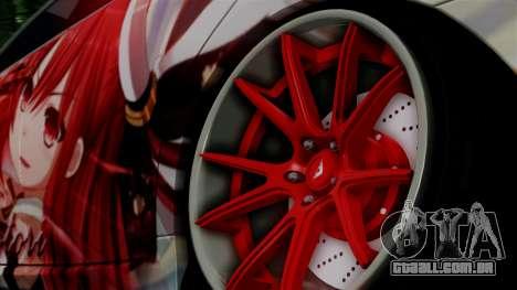 Lexus GS350 Stance Itsuka Kotori para GTA San Andreas traseira esquerda vista
