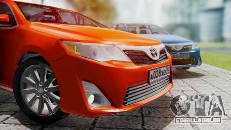 Toyota Camry 2012 para GTA San Andreas esquerda vista