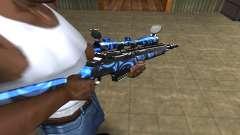 Blue Limers Sniper Rifle para GTA San Andreas