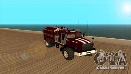 Ural 5557-40 o Ministério das situações de emergência da Ucrânia para GTA San Andreas