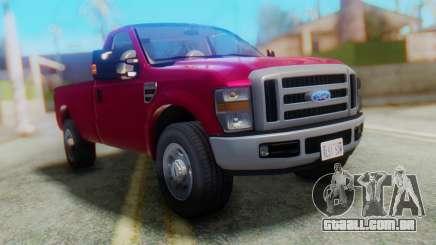 Ford F-350 Super Duty Táxi Regular de 2008 FIV АПП para GTA San Andreas