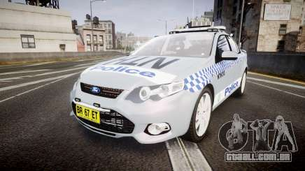 Ford Falcon FG XR6 Turbo Police [ELS] para GTA 4