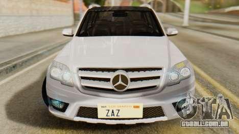 Mercedes-Benz GLK320 2012 para GTA San Andreas vista direita