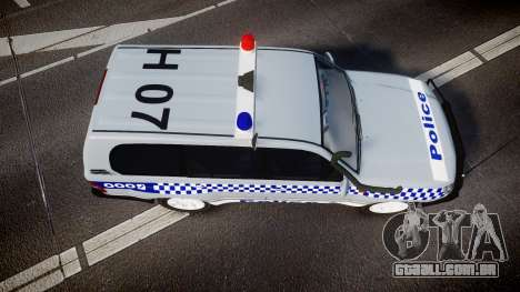 Toyota Land Cruiser 100 2005 Police [ELS] para GTA 4 vista direita