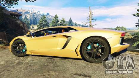 GTA 5 Lamborghini Aventador LP700-4 v0.1 vista lateral esquerda