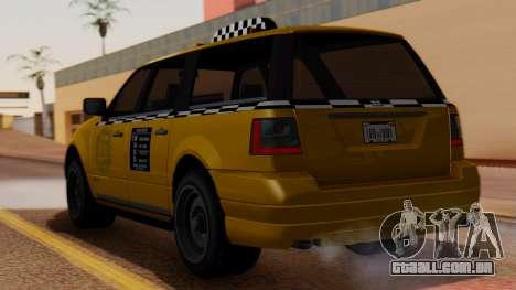 Landstalker Taxi SR 4 Style para GTA San Andreas esquerda vista