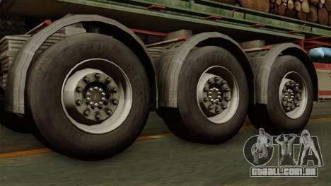 Trailer Cargos ETS2 New v2 para GTA San Andreas traseira esquerda vista