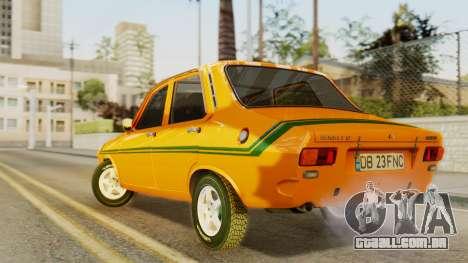 Renault 12 Gordini para GTA San Andreas esquerda vista