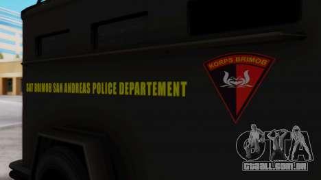 GTA 5 Enforcer Indonesian Police Type 2 para GTA San Andreas vista direita