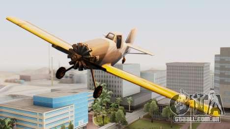 Cropduster Remake para GTA San Andreas traseira esquerda vista