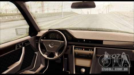 Mercedes-Benz E500 W124 para GTA San Andreas vista traseira