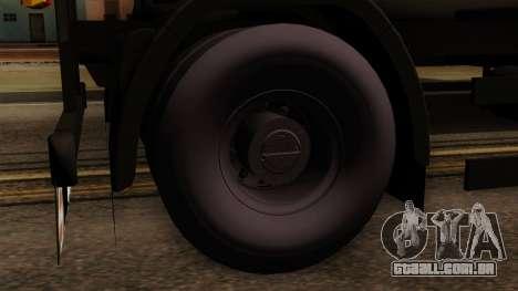 GTA 5 Fieldmaster Wood Trailer para GTA San Andreas traseira esquerda vista