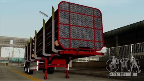 Trailer Fliegl v2 para GTA San Andreas vista traseira