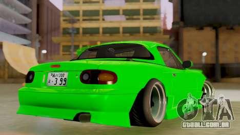 Mazda MX-5 BnSports para GTA San Andreas vista traseira