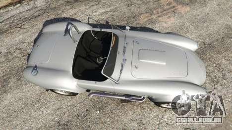 GTA 5 AC Cobra [Beta] traseira vista lateral esquerda