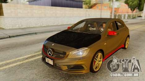 Mercedes-Benz A45 AMG 2012 PJ para GTA San Andreas vista inferior