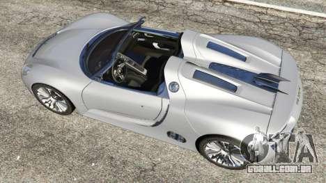 GTA 5 Porsche 918 Spyder voltar vista