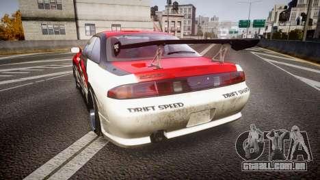 Nissan Silvia S14 Koni para GTA 4 traseira esquerda vista
