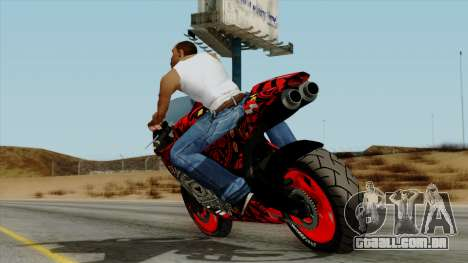 Bati Batik Motorcycle v2 para GTA San Andreas esquerda vista