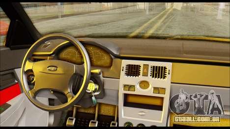 Lada Priora Porsche Customs para GTA San Andreas traseira esquerda vista