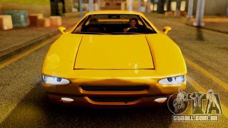 HD Infernus para GTA San Andreas vista traseira