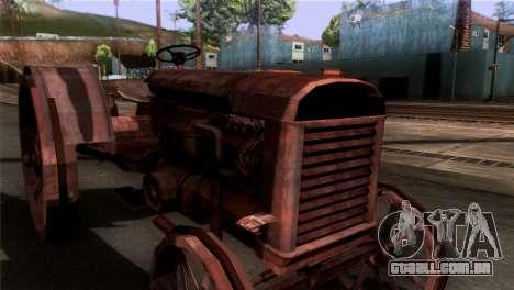 GTA 5 Rusty Tractor para GTA San Andreas traseira esquerda vista