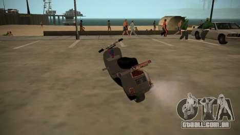 Stunt-Faggio para GTA San Andreas esquerda vista