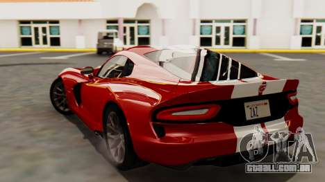Dodge Viper SRT GTS 2013 HQLM (MQ PJ) para GTA San Andreas esquerda vista