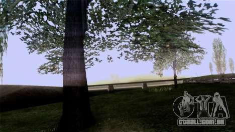 A textura das árvores do BISPO para GTA San Andreas quinto tela