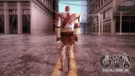 God Of War 3 Kratos Blood para GTA San Andreas terceira tela