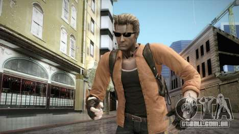 New Jhon Albert Wesker from Resident Evil para GTA San Andreas