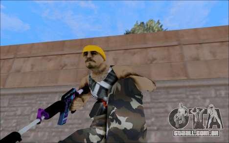 M4A1 Color para GTA San Andreas terceira tela