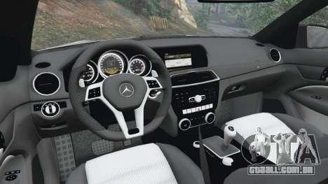 GTA 5 Mercedes-Benz C63 AMG 2012 volante
