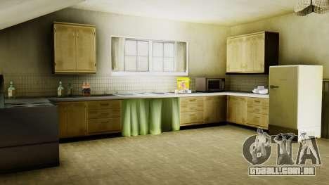O novo interior da casa do CJ para GTA San Andreas sétima tela