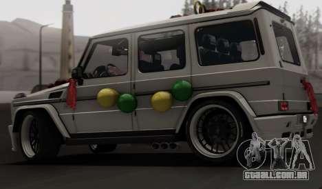 Mercedes Benz G65 Hamann Tuning Wedding Version para vista lateral GTA San Andreas