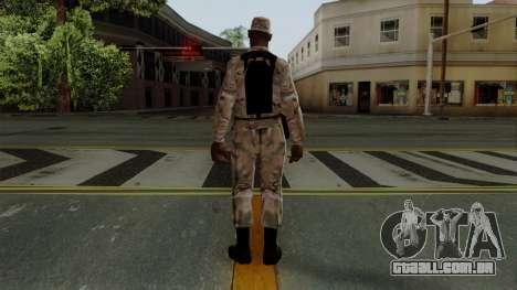 O Africano soldado Americano Multicam para GTA San Andreas terceira tela