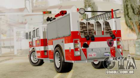MTL SAFD Firetruck para GTA San Andreas esquerda vista