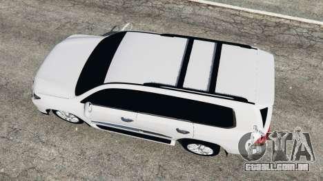 GTA 5 Lexus LX 570 2014 voltar vista