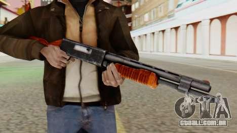 Xshotgun espingarda de ação de Bomba para GTA San Andreas terceira tela