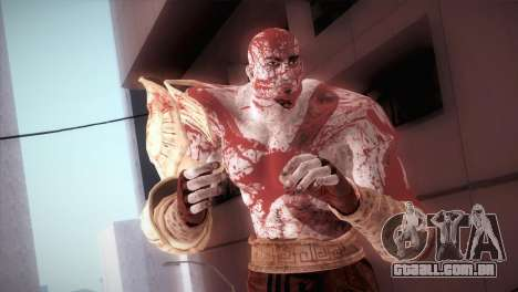 God Of War 3 Kratos Blood para GTA San Andreas