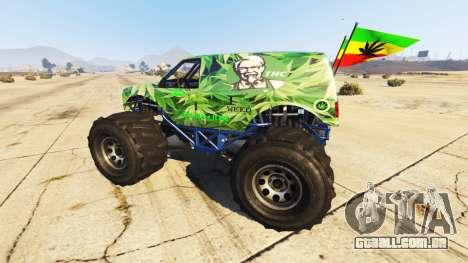 GTA 5 Vapid The Liberator Cannabis vista lateral esquerda