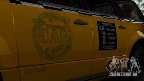 Landstalker Taxi SR 4 Style para GTA San Andreas vista direita