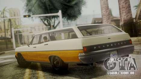 GTA 5 Dundreary Regina IVF para GTA San Andreas traseira esquerda vista