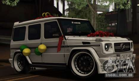 Mercedes Benz G65 Hamann Tuning Wedding Version para GTA San Andreas vista inferior